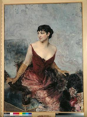 Private Collection. Woman Profile Poster by Everett