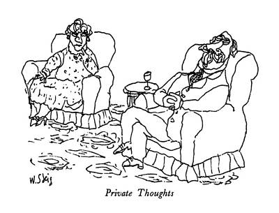 Private Thoughts Poster by William Steig