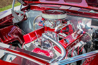 Poster featuring the photograph Pro Street Hot Rod Engine  by Trace Kittrell