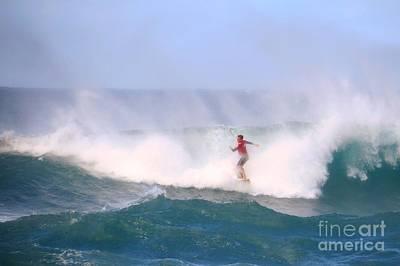 Pro Surfing Sunset Beach Hawaii Poster by Scott Cameron