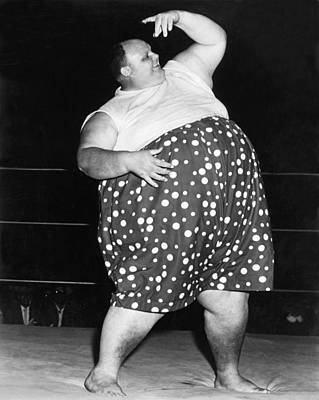 Pro Wrestler Happy Humphrey Poster by Underwood Archives