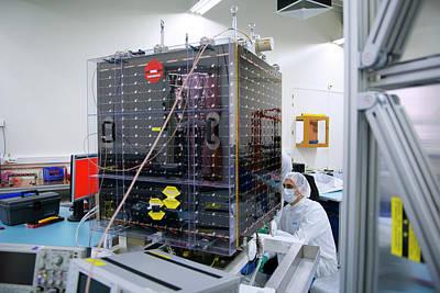 Proba-v Satellite Testing Poster by Esa - Stephane Corvaja