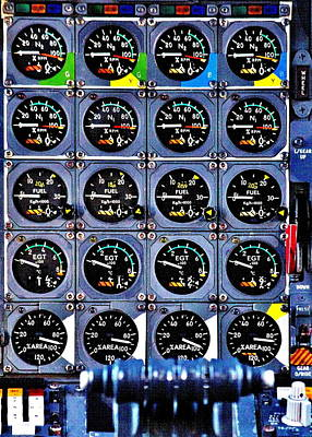 Concorde Controls Poster by Benjamin Yeager