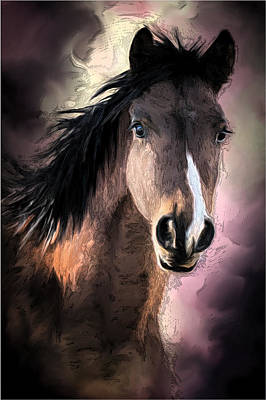 Profile Of A Horse Poster by Ronel Broderick
