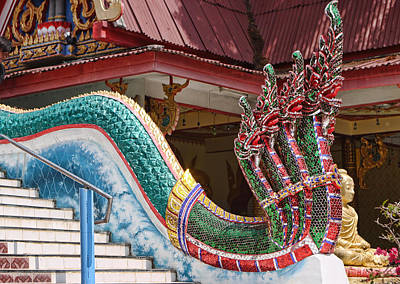 Profile Of Dragon Descending The Stairs Poster by Linda Phelps