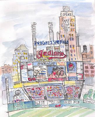 Progessive Field Poster by Matt Gaudian