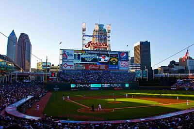 Progressive Field In Cleveland Ohio Poster