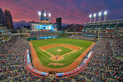 Progressive Field Sunset Poster