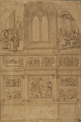 Project For A Wall Decoration Perino Del Vaga Piero Poster by Litz Collection