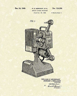 Projector 1941 Patent Art Poster