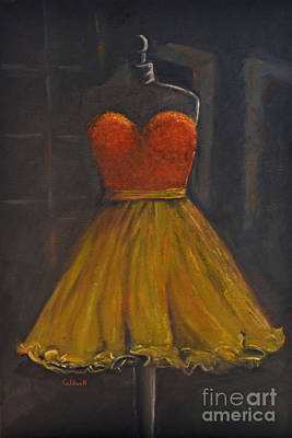 Prom Dress Poster by Patricia Caldwell