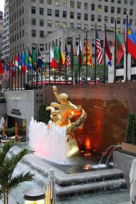 Prometheus - Rockefeller Center Poster by Christiane Schulze Art And Photography