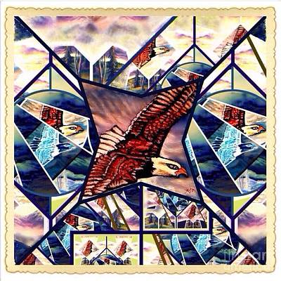 Prophetic Eagle Visions Storytelling In A Crazy Quilt Pattern Poster
