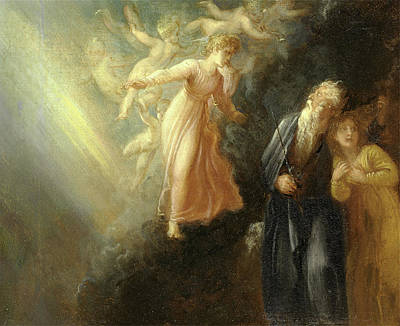 Prospero, Miranda And Ariel, From The Tempest, Act I, Scene Poster by Litz Collection