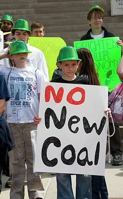 Protest Against New Coal Power Plants Poster by Jim West