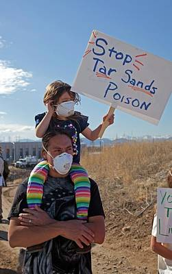 Protest Against Tar Sands Refinery Poster by Jim West