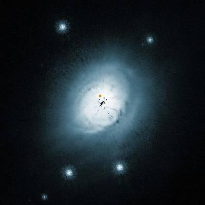 Protoplanet Orbiting A Star Poster by Eso/nasa/esa/ardila Et Al.