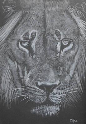 Proud Lion Poster by Zilpa Van der Gragt