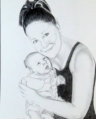 Poster featuring the drawing Proud Parent by Sharon Schultz