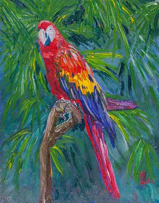 Proud Parrot Poster