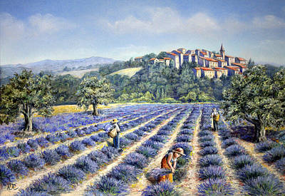 Poster featuring the painting Provencal Harvest by Rosemary Colyer