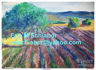 Provence Lavender Field Poster by Eric  Schiabor