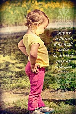 Proverbs 31 31 Poster by Michelle Greene Wheeler