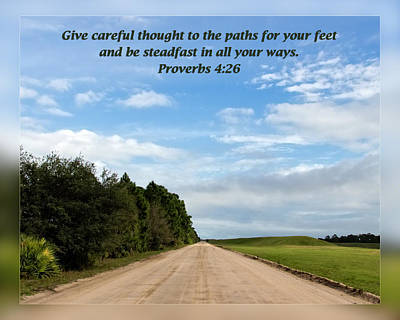 Proverbs 4 26 Poster