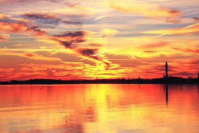 Provincetown Harbor Sunset Poster by Roupen  Baker