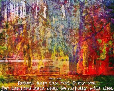 Psalm 116 7 Poster
