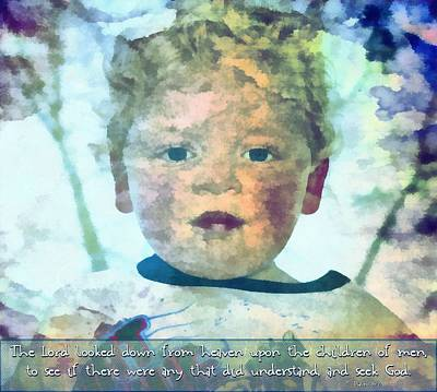 Psalm 14 2 Poster by Michelle Greene Wheeler