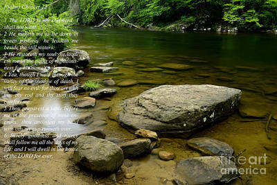 Psalm 23 Cranberry River Poster