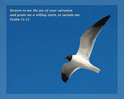 Psalm 51 12 Poster by Dawn Currie