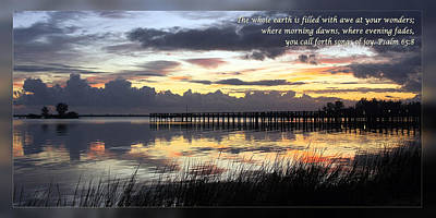 Psalm 65 8 Poster by Dawn Currie