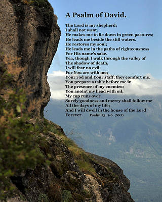 Psalm Of David Poster by Kirt Tisdale