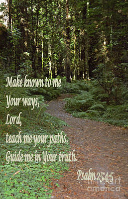 Psalm  - Paths Poster by Sharon Elliott