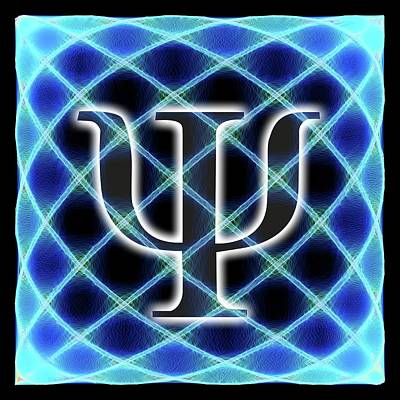 Psi Symbol And Artwork Of A Wavefunction Poster by Alfred Pasieka