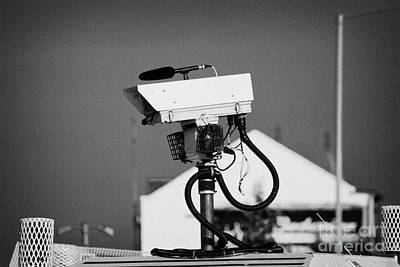 Psni Surveillance Land Rover Spy Camera On Crumlin Road At Ardoyne Shops Belfast 12th July Poster by Joe Fox