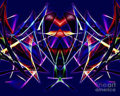 Psychedelic Bat N Wings Poster by Gayle Price Thomas