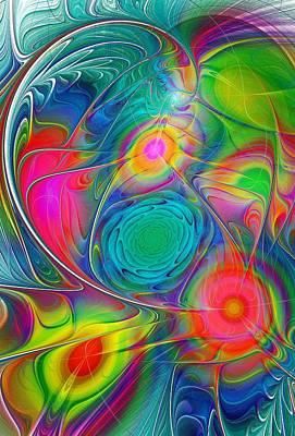 Psychedelic Colors Poster by Anastasiya Malakhova