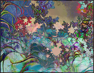 Psychedelic Garden Poster by Ursula Freer