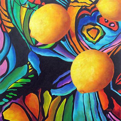 Psychedelic Lemons Poster