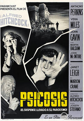 Psycho Aka Psicosis, Left From Top Vera Poster by Everett