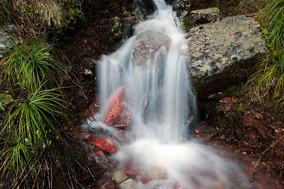 Ptarmigan Trail Waterfall No.2 Poster by Daniel Woodrum