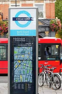 Public Bike Hire Scheme Poster by Ashley Cooper