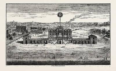 Public Fireworks, 1748, London, Uk Poster