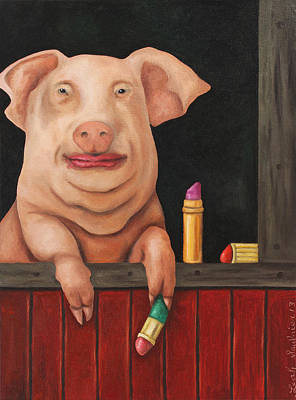 Pucker Up Poster by Leah Saulnier The Painting Maniac