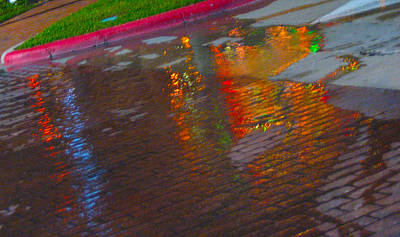 Puddle Art Paved Poster by ARTography by Pamela Smale Williams