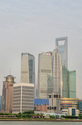 Pudong District Skyline And Huangpu Poster