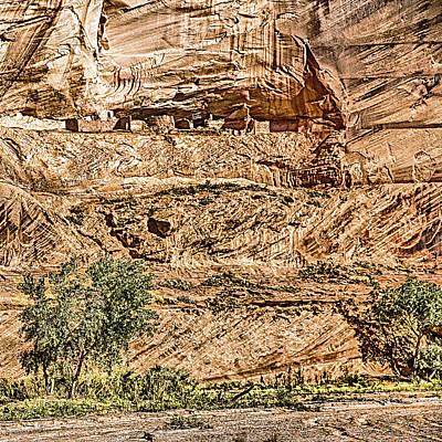 Pueblo 2 Canyon De Chelly Navajo Nation Poster by Bob and Nadine Johnston